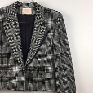 Vintage Pendleton Plaid Cropped Blazer